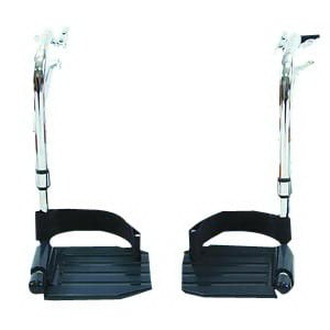Invacare Swingaway Hemi Footrests with Composite Footplate