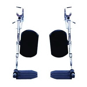Invacare Hemi Elevating Legrests with Heel Loop Aluminum Footplate