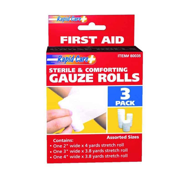 "3-Pack Gauze Roll, 2"", 3"" and 4"""