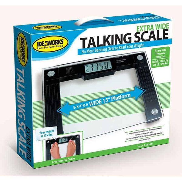 "Talking Scale, 15"" x 12"" x 1"" Platform, 550 lb. Weight Capacity"