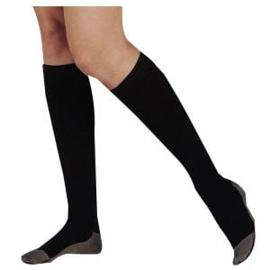 Silver Sole Knee-High Socks, 12-16, Black, X-Large