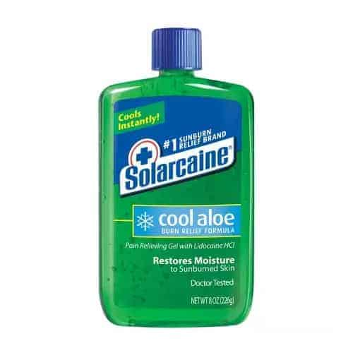 Solarcaine Cool Aloe Extra Burn Relief Gel with Lidocaine, 8 oz.