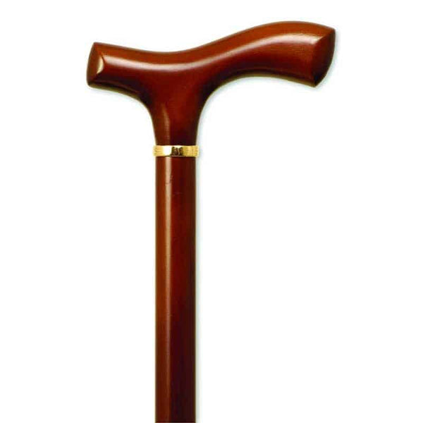 "Men's Fritz Handle Cane, Brown Stain, 36"" - 37"""