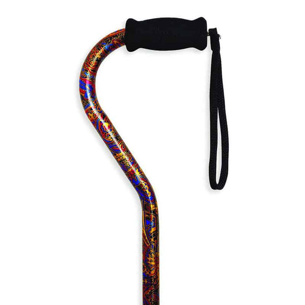 Offset Handle Cane, Paisley