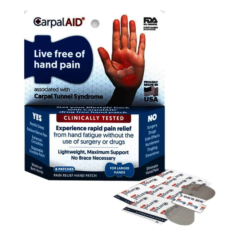 CarpalAID Large Hand Disposable Patch