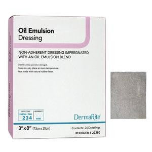 "Oil Emulsion Non-Adherent Wound Dressing, 3"" x 8"""
