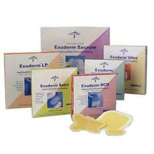 "Exuderm Regulated Colloidal Dispersion Thin Hydrocolloid Dressing 6"" x 6"""