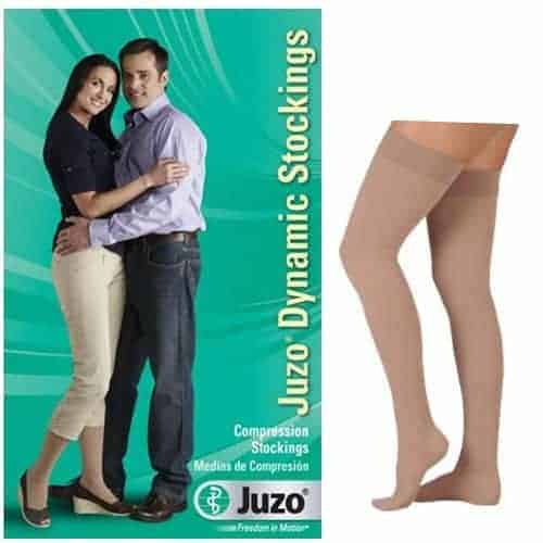 Dynamic Thigh-High with Silicone Border, 20-30, Full Foot, Beige, Size 3