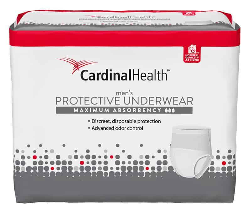 "Cardinal Maximum Absorbency Protective Underwear for Men, Large/Extra Large, 45 - 58"", 130 - 230 lbs REPLACES ZRPUM18"