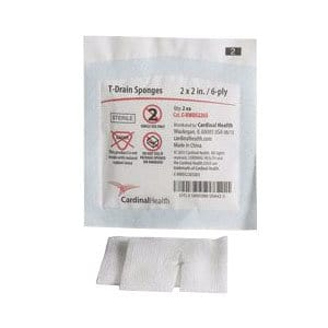 "T-Drain Sponges 2"" x 2"", 6-ply, (Sterile Packs of 2's) Latex-Free REPLACES ZG2206S"