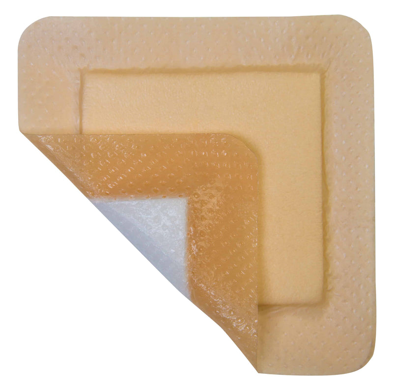 "MediPlus Silicone Comfort Foam Adhesive Border Sacral 7.2"" x 7.2"", Pad Size 5.25"" x 4.5"""