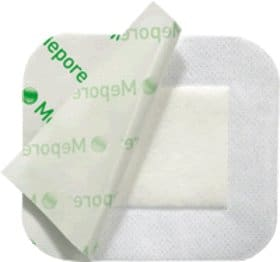 "Mepore Adhesive Absorbent Dressing 2.5"" x 3"""