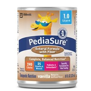 PediaSure 1.0 Cal Enteral Formula with Fiber, Vanilla 8 oz. Can