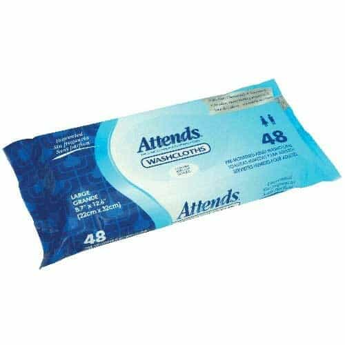 "Attends Unscented Washcloths, 8.7"" x 12.6"""