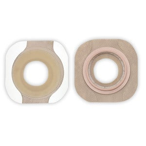 "New Image 2-Piece Precut Flat FlexWear Skin Barrier 5/8"" with Tape Border"