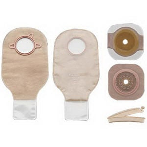 "New Image Two-piece Colostomy/Ileostomy Drainable Single-use Kit 3-1/2"", Clamp Closure"