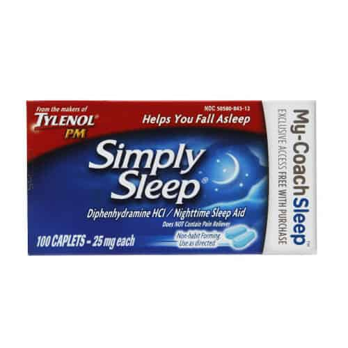 Simply Sleep Nighttime Sleep Aid, 25 mg