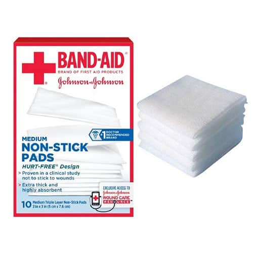 "J AND J Band-Aid First Aid Non-Stick Pads 2"" x 3"""