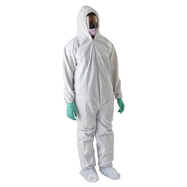 Anti-Static Microporous Breathable Coveralls with Hood and Boots, 4X-Large