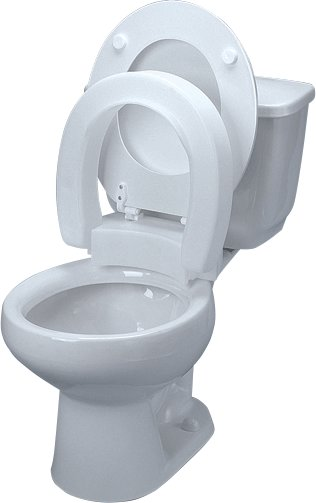 Tall-Ette Elevated Hinged Toilet Seat, Elongated