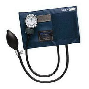 Adult CALIBER Aneroid Sphygmomanometers with Blue Nylon Cuff