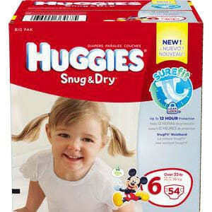 HUGGIES Snug and Dry Diapers, Step 6, Big Pack