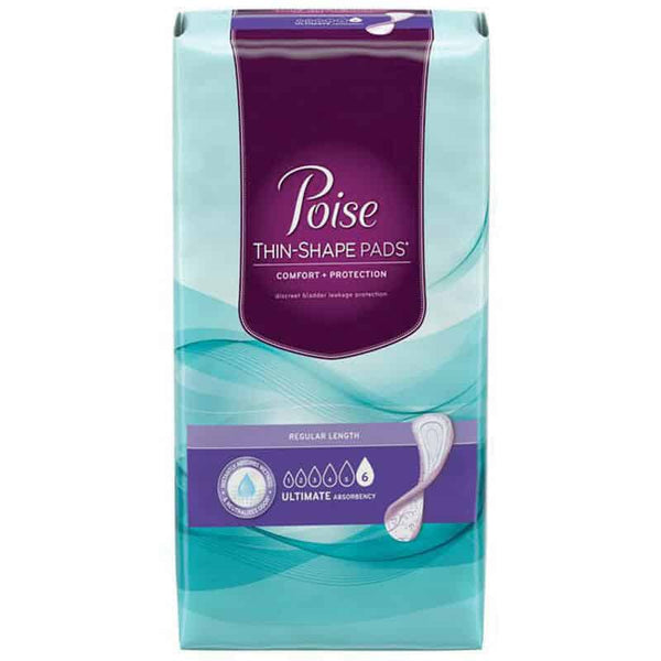 Poise Thin-Shape Pads, Ultimate