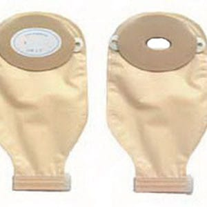 "Nu-Flex 1-Piece Adult Drainable Pouch Cut-to-Fit Deep Convex 1-1/2"" x 2-3/4"" Oval"