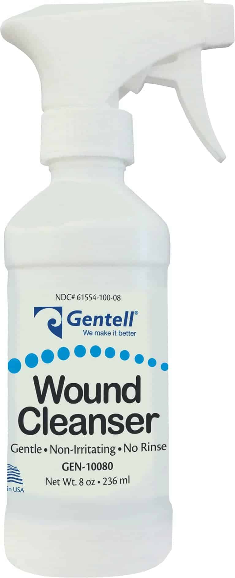 Gentell Wound Cleanser 8 oz. Spray Bottle