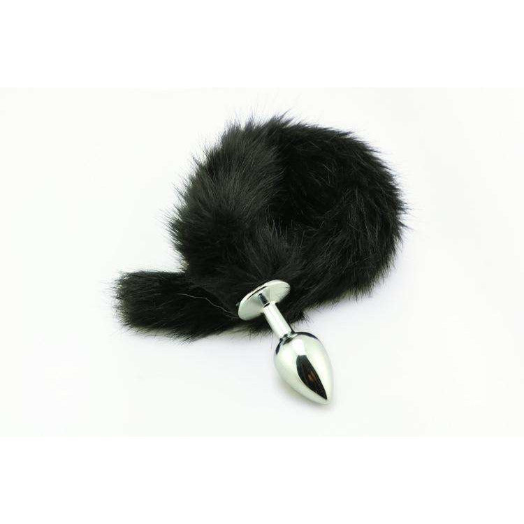 "18"" Black Fox Tail Plug"