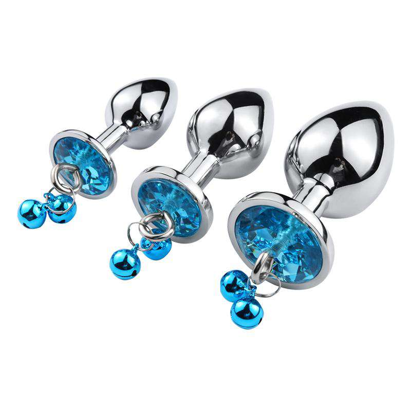 Jeweled Bell Round Plug 3-piece Set