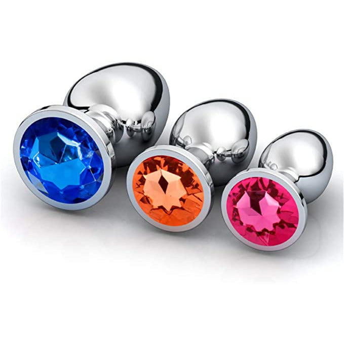 Heart-shaped 3 Butt Plug Jewelry Plug Sex Toys