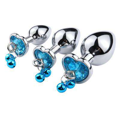 Jeweled Bell Princess Plug 3-piece Set
