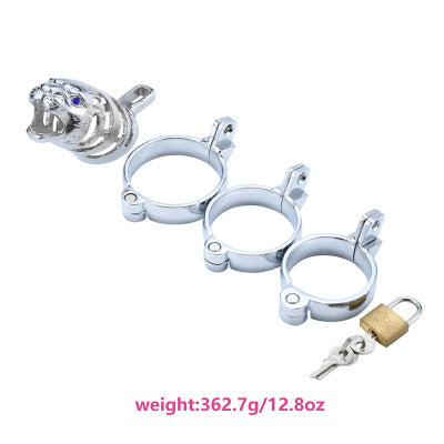 Metal chastity lock penis restraint appliance sex toys丨runyu
