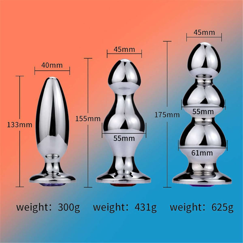 SM stainless steel anal plug massager stimulation toy丨runyu