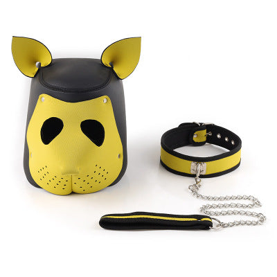 BDSM bondage rubber dog headscarf mask cosplay sex toy丨runyu