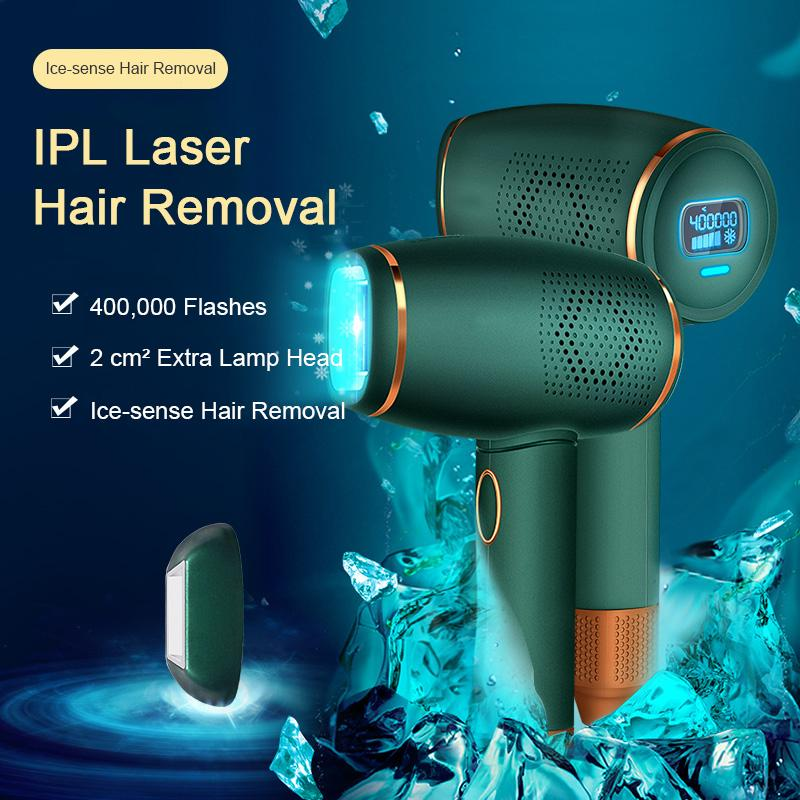 Home Ice-Sense IPL Laser Hair Removal Device Green - Mico Beauty