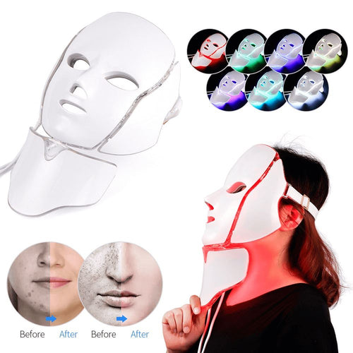 Mico Beauty 7 Colors LED Photon Therapy Portable Face Mask - Mico Beauty