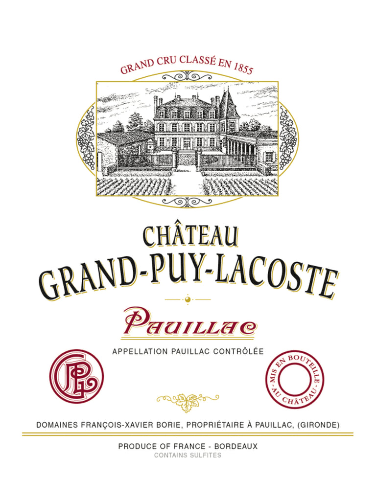 Chateau Grand-Puy-Lacoste 拉古斯 買紅酒 Red Wine 香港買酒網 法國名莊酒 france red wine 買紅酒 紅酒推介 頂級紅酒 波爾多 Bordeaux 1855 Wines