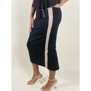 Melissa Pencil Skirt with side Stripe - Quisha's Closet