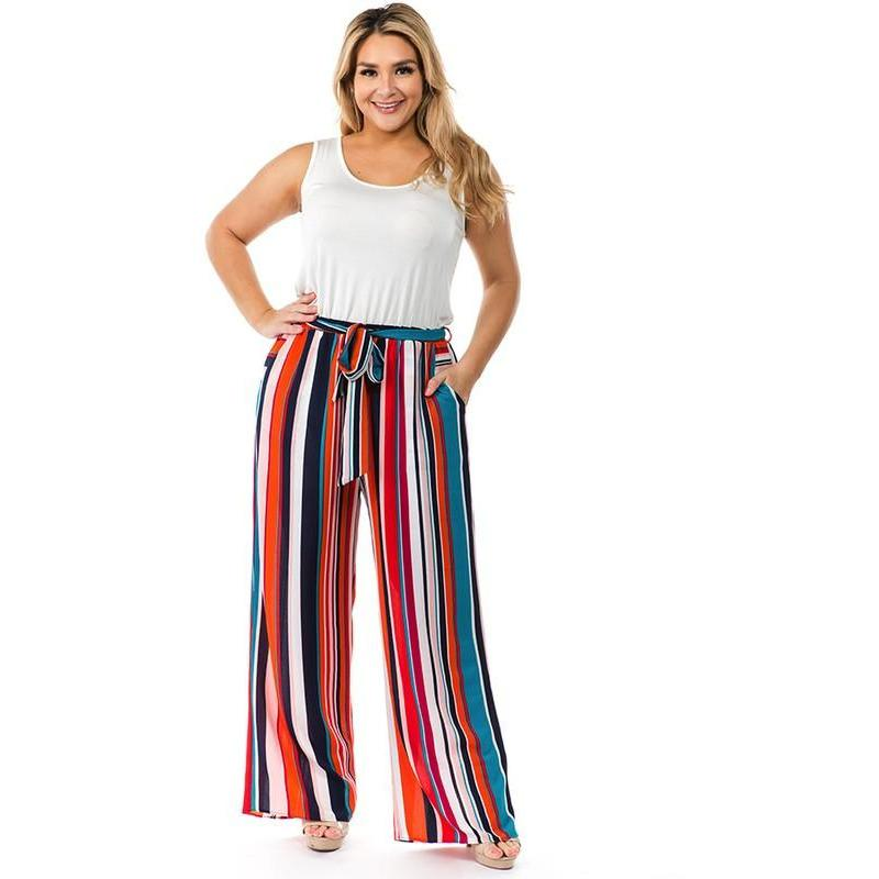 Multi Color Palazzo Pants - Quisha's Closet