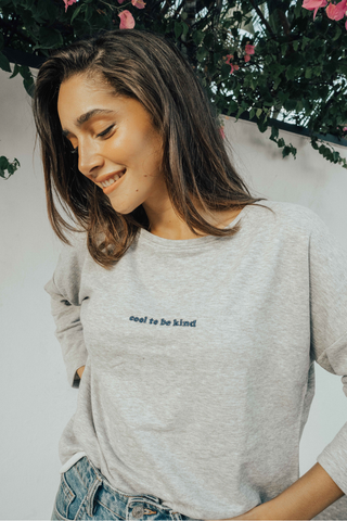 O&F Cool to be Kind Sweatshirt - Grey