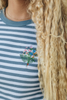 O&F Floral Embroidered Breton Tee