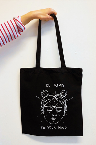 Be Kind to Your Mind Bag- Black