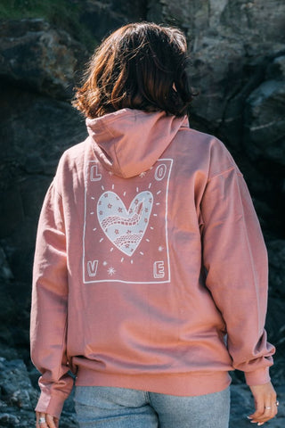 O&F Love Hoodie - Dusty Pink