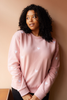 O&F Heart Embroidered Sweatshirt - Pink