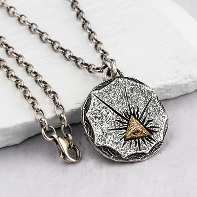Eye Of Omniscient Silver Necklace - Razzyy