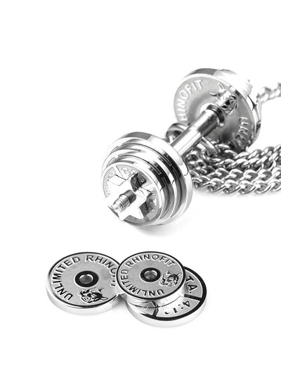 Stainless steel Dumbbell Splicing pendant - Razzyy