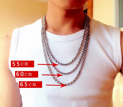 Sterling Silver Pendants Men Cable Necklace - Razzyy