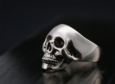 Trendy Skull Rings Real Sterling 925 Silver - Razzyy